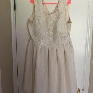 Chi Chi London Dresses - Chi Chi London ModCloth Cream/White Sequin Dress